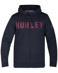 Hurley | Blue Men's Graphic-print Zip-up Hoodie for Men | Lyst