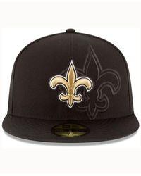 KTZ Black New Orleans Saints 2016 Sideline 59fifty Cap for men