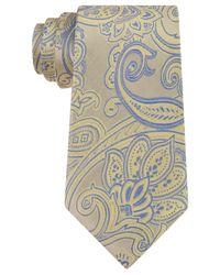 Michael Kors | Yellow Michael Men's Scalloped Paisley Tie for Men | Lyst