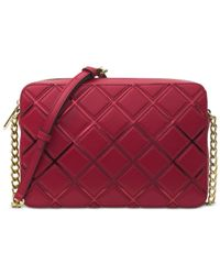 Michael Kors | Red Michael Jet Set Travel Large East West Crossbody | Lyst
