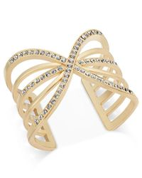 INC International Concepts | Metallic Pave Cutout Cuff Bracelet, Only At Macy's | Lyst