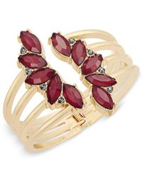 INC International Concepts | Metallic Gold-tone Crystal Leaf Cuff Bracelet, Only At Macy's | Lyst