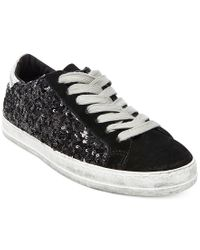 Steve Madden | Black Decaf Quilted Lace-up Sneakers | Lyst