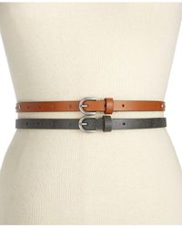 Style & Co. | Multicolor Rhinestud 2 For 1 Skinny Belts | Lyst