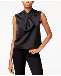 RACHEL Rachel Roy | Black Sleeveless Bow Top, Only At Macy's | Lyst