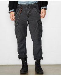Denim & Supply Ralph Lauren Black Slim-fit Field Cargo Pant for men