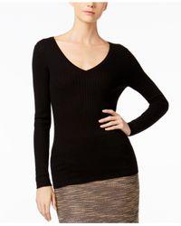 Catherine Malandrino | Black Cashmere Ribbed Sweater | Lyst
