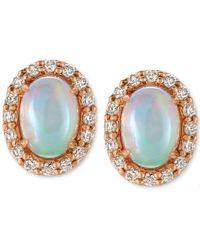 Le Vian   Multicolor Opal (3/4 Ct. T.w.) And Diamond (1/4 Ct. T.w.) Stud Earrings In 14k Rose Gold   Lyst
