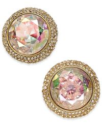 kate spade new york | Metallic Gold-tone Iridescent Crystal Stud Earrings | Lyst