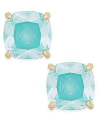 kate spade new york | Blue Gold-tone Aqua Crystal Stud Earrings | Lyst