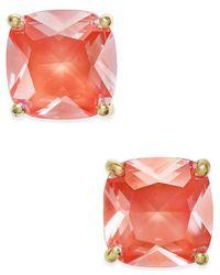 kate spade new york   Orange Gold-tone Aqua Crystal Stud Earrings   Lyst