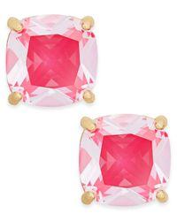 kate spade new york | Pink Gold-tone Aqua Crystal Stud Earrings | Lyst