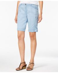 Style & Co. | Blue Cargo Bermuda Shorts, Only At Macy's | Lyst