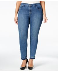 Style & Co. | Blue Plus Size Pacific Wash Skinny Ankle Jeans, Only At Macy's | Lyst