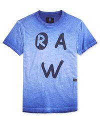 G-Star RAW | Blue Men's Eshje Ombre Graphic-print Logo T-shirt for Men | Lyst
