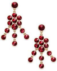 Charter Club - Red Crystal Chandelier Earrings - Lyst