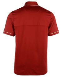 Under Armour Red Men's Wisconsin Badgers Podium Polo Shirt for men