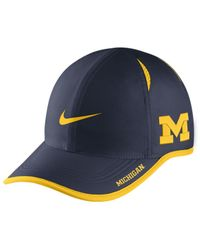 135a876f Lyst - Nike Michigan Wolverines Featherlight Cap in Blue for Men