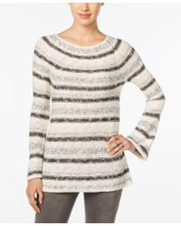 Style & Co. | White Petite Striped Boat-neck Sweater, Only At Macy's | Lyst