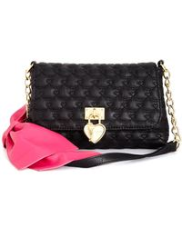 Betsey Johnson | Black Bow Shoulder Bag, A Macy's Exclusive Style | Lyst