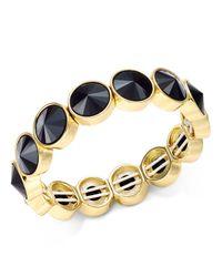 Charter Club   Metallic Bezel-set Crystal Stretch Bracelet, Only At Macy's   Lyst