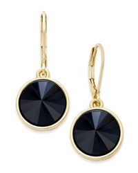 Charter Club | Blue Bezel-set Crystal Earrings, Only At Macy's | Lyst