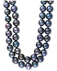 Effy Collection - Blue Cultured Tahitian Pearl (10mm) Long Strand Necklace - Lyst