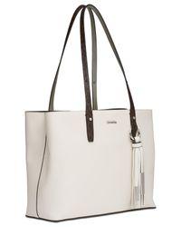 CALVIN KLEIN 205W39NYC - White Maggie Leather Medium Tote - Lyst