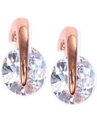 Givenchy - Pink Rose Gold-tone Prong Stud Earrings - Lyst