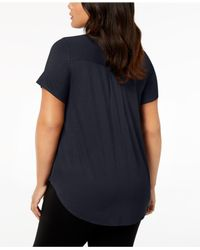 Alfani - Blue Plus Size High-low T-shirt - Lyst