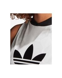 Adidas - White Originals Fashion League Jacquard Sleeveless Dress - Lyst