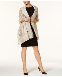 INC International Concepts - Black Open Jacquard Wrap - Lyst