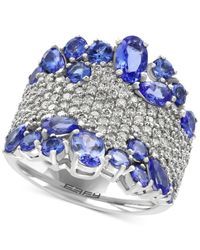 Effy Collection | Multicolor Tanzanite (3-1/4 Ct. T.w.) And Diamond (1-1/8 Ct. T.w.) Ring In 14k Gold | Lyst