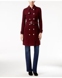 INC International Concepts | Red Military Trench Coat, Only At Macy's | Lyst