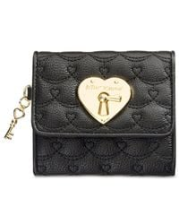 Betsey Johnson | Black Swag Heart French Wallet | Lyst