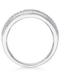 Macy's - Metallic Diamond Multi-row Ring (1 Ct. T.w.) In 14k White Gold - Lyst