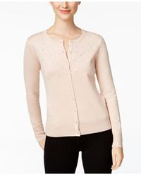 Charter Club | Pink Embellished Cardigan, Only At Macy's | Lyst