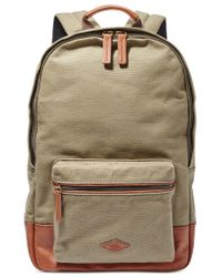 Fossil | Green Estate Canvas Backpack for Men | Lyst