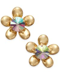 kate spade new york | Metallic Sunset Blooms Gold-tone Flower Stud Earrings | Lyst