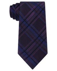 Calvin Klein   Blue Men's Indigo Plaid Tie for Men   Lyst