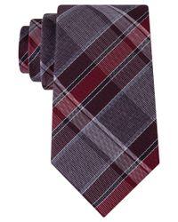 Kenneth Cole Reaction | Purple Men's Perfect Plaid Tie for Men | Lyst