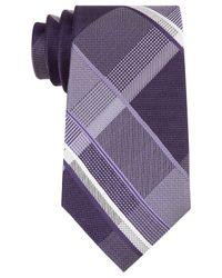 Michael Kors | Purple Men's Forest Plaid Tie for Men | Lyst