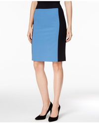 Nine West | Blue Colorblocked Pencil Skirt | Lyst