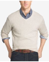 Izod | Multicolor Men's Big And Tall V-neck Sweater for Men | Lyst