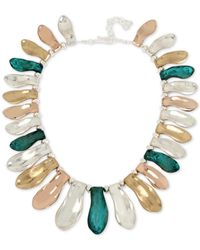 Robert Lee Morris | Multicolor Tri-tone Patina Sculptural Collar Necklace | Lyst