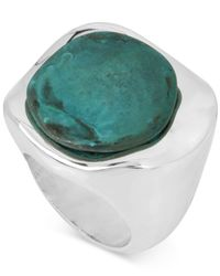 Robert Lee Morris | Metallic Silver-tone Patina Stone Sculptural Ring | Lyst