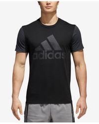 Adidas - Black Colorblocked Logo T-shirt for Men - Lyst