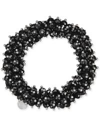 Charter Club | Black After Party Beaded Stretch Bracelet | Lyst