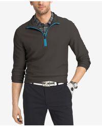 Izod | Gray Men's Quarter-zip Textured Performance Shirt for Men | Lyst