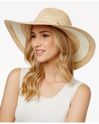 Vince Camuto | Natural Nautical Stripe Floppy Sun Hat | Lyst